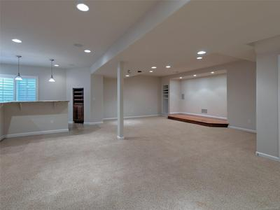 Basement w/ Home Theater Area