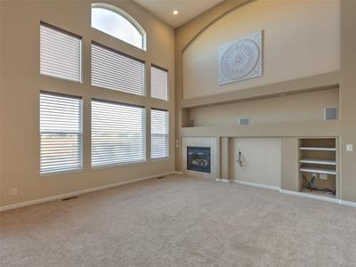 Vaulted Family Room w/ Fireplace