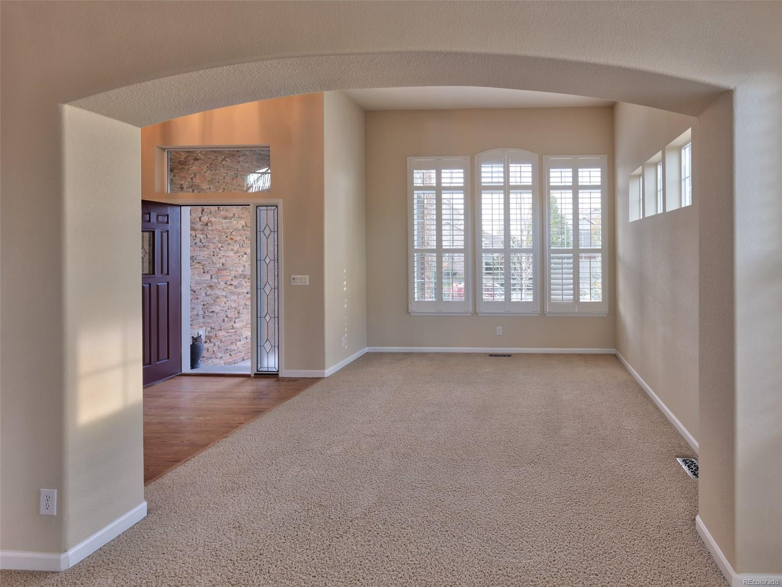 View Dining Room to Living room