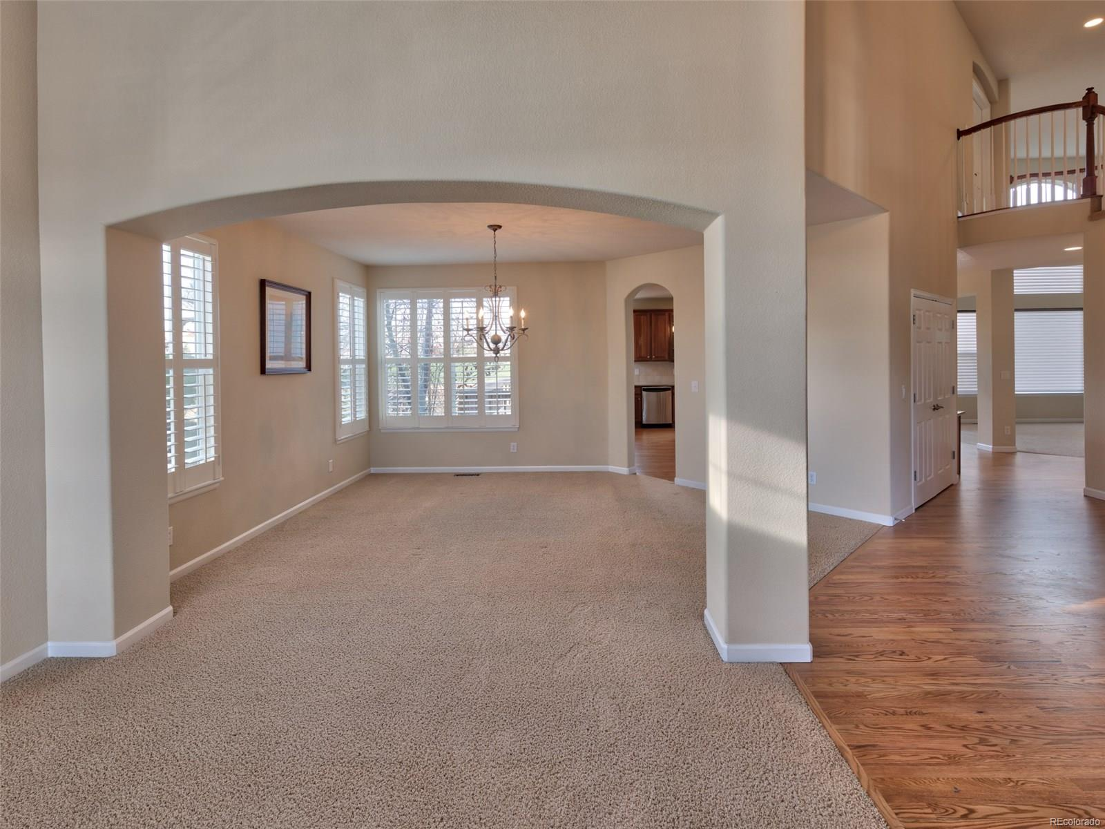 View Living Room to Dining Room