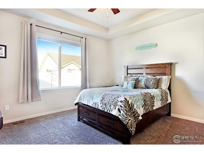 Spacious Master w Coffered Ceiling