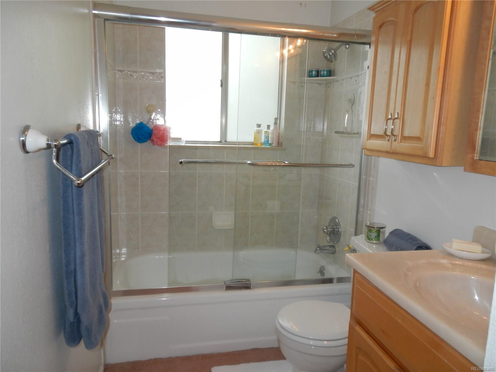 UPDATED FULL BATH ON UPPER LEVEL WITH DOOR TO MASTER