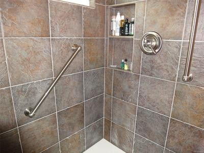Tile in Shower Master Bath