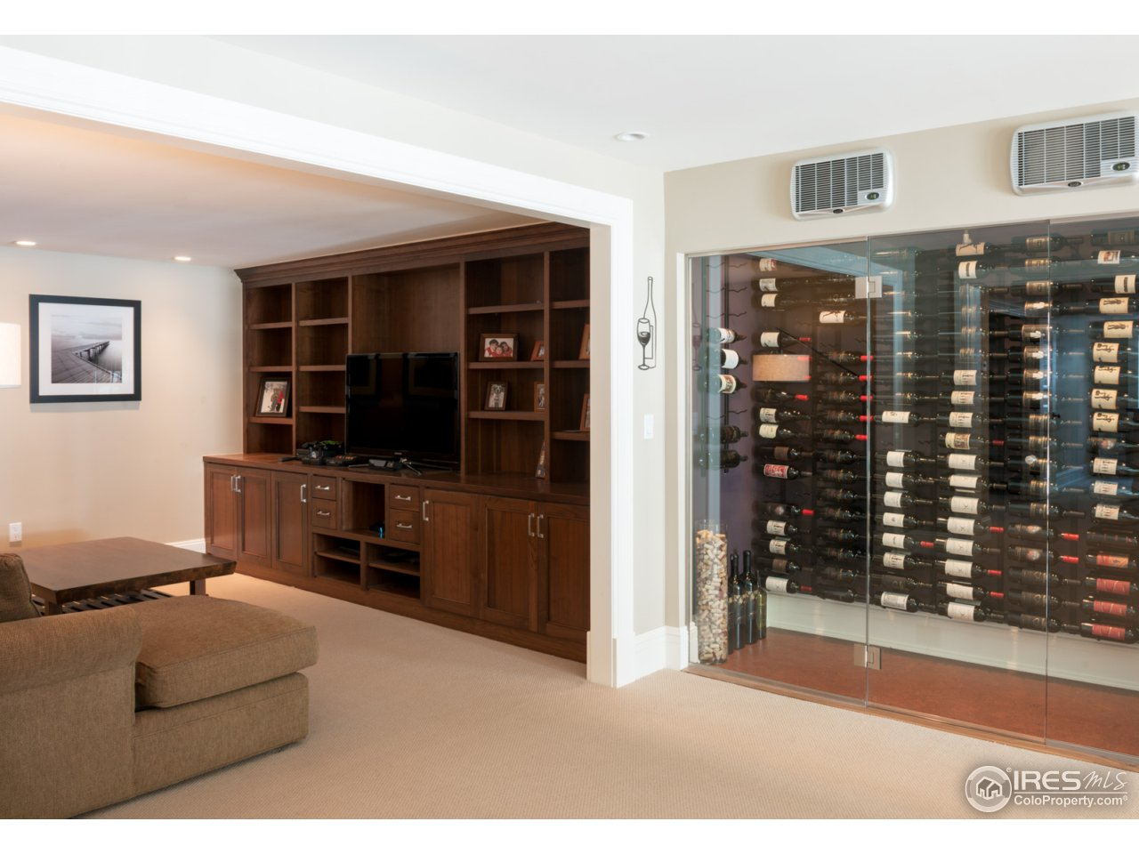 Lower TV Room and Wine Room