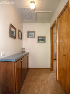 Hallway storage to stay organized.