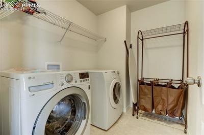 Laundry room upstairs with Dryer and NEW Washer included