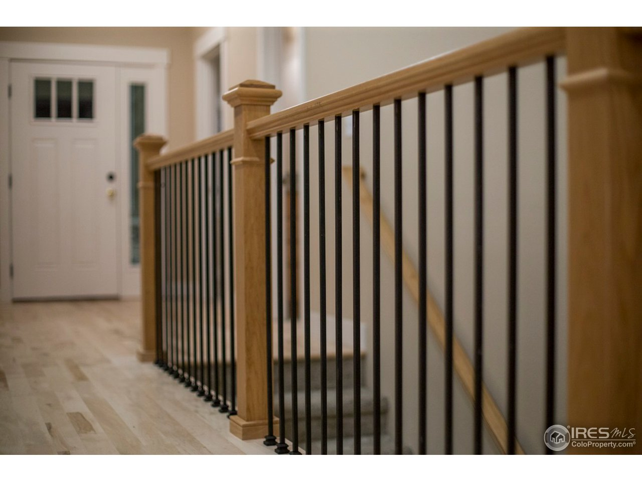 Example of the stair railing