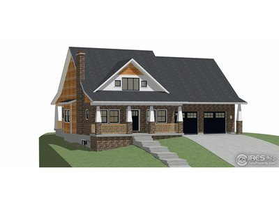 Achitectural rendering of the completed home