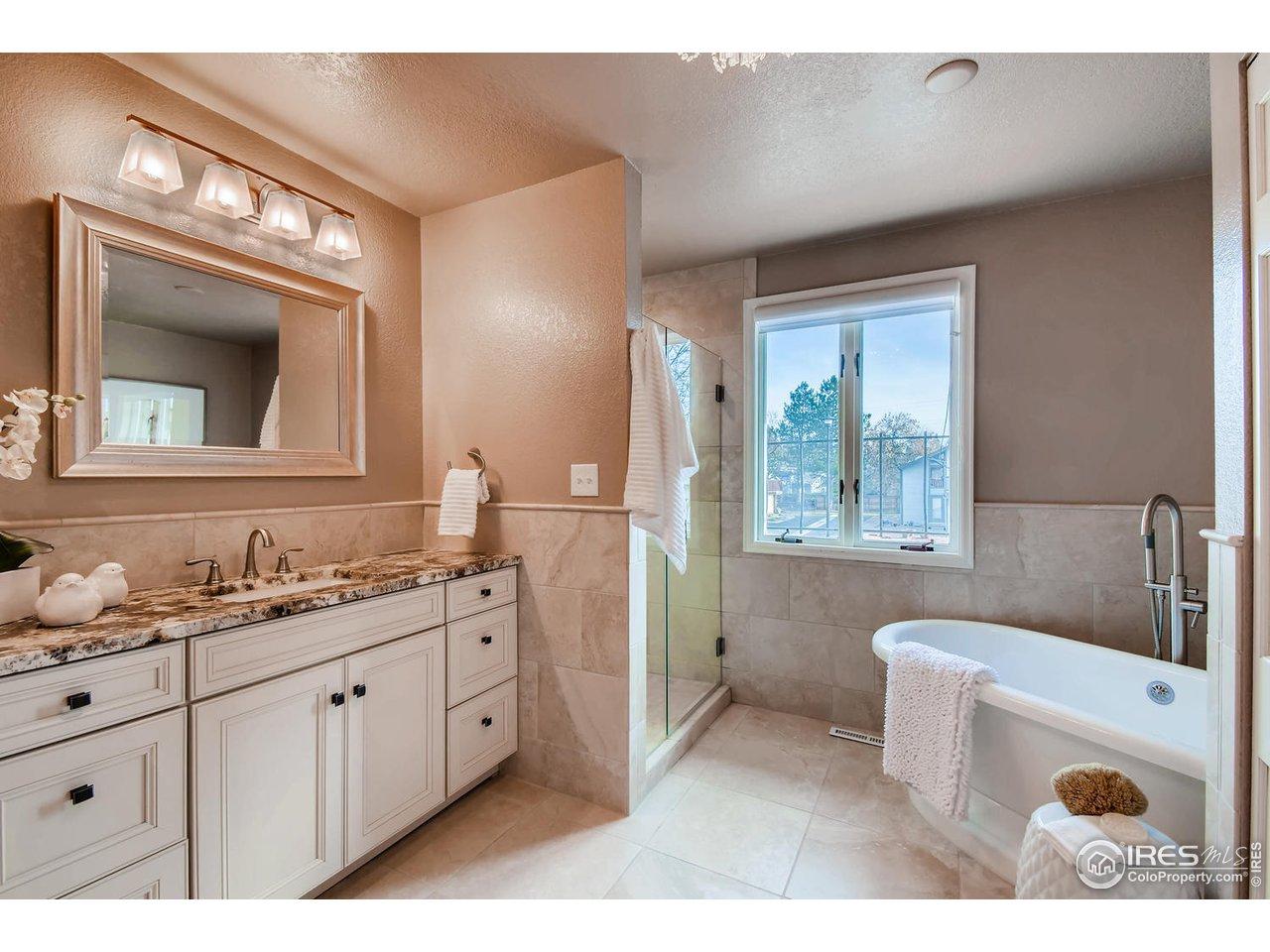 Luxurious & All New Upper  Bath w/ Soaking Tub