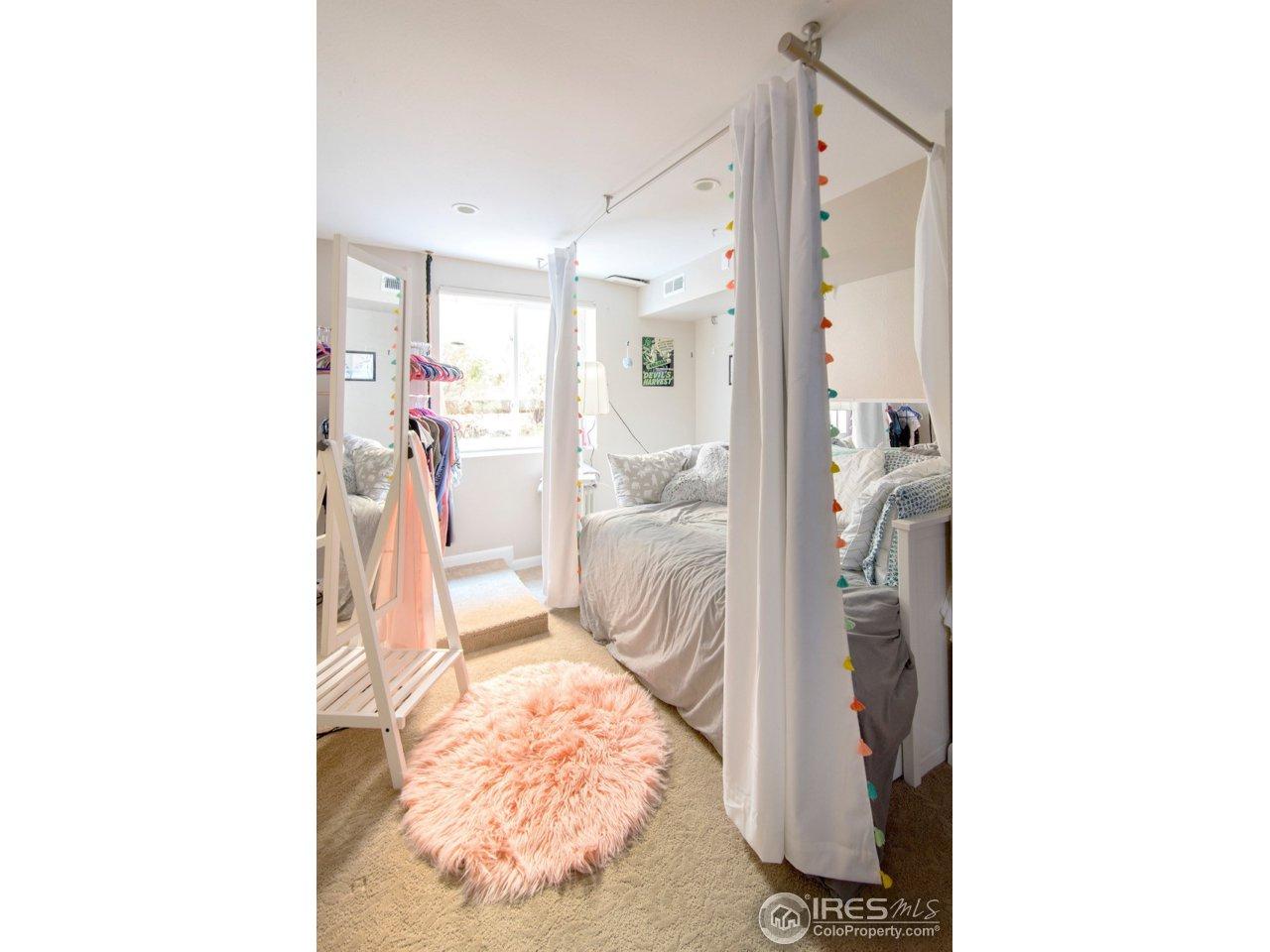 basement bedroom area