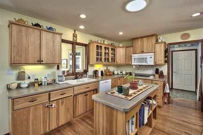 kitchen with prep island