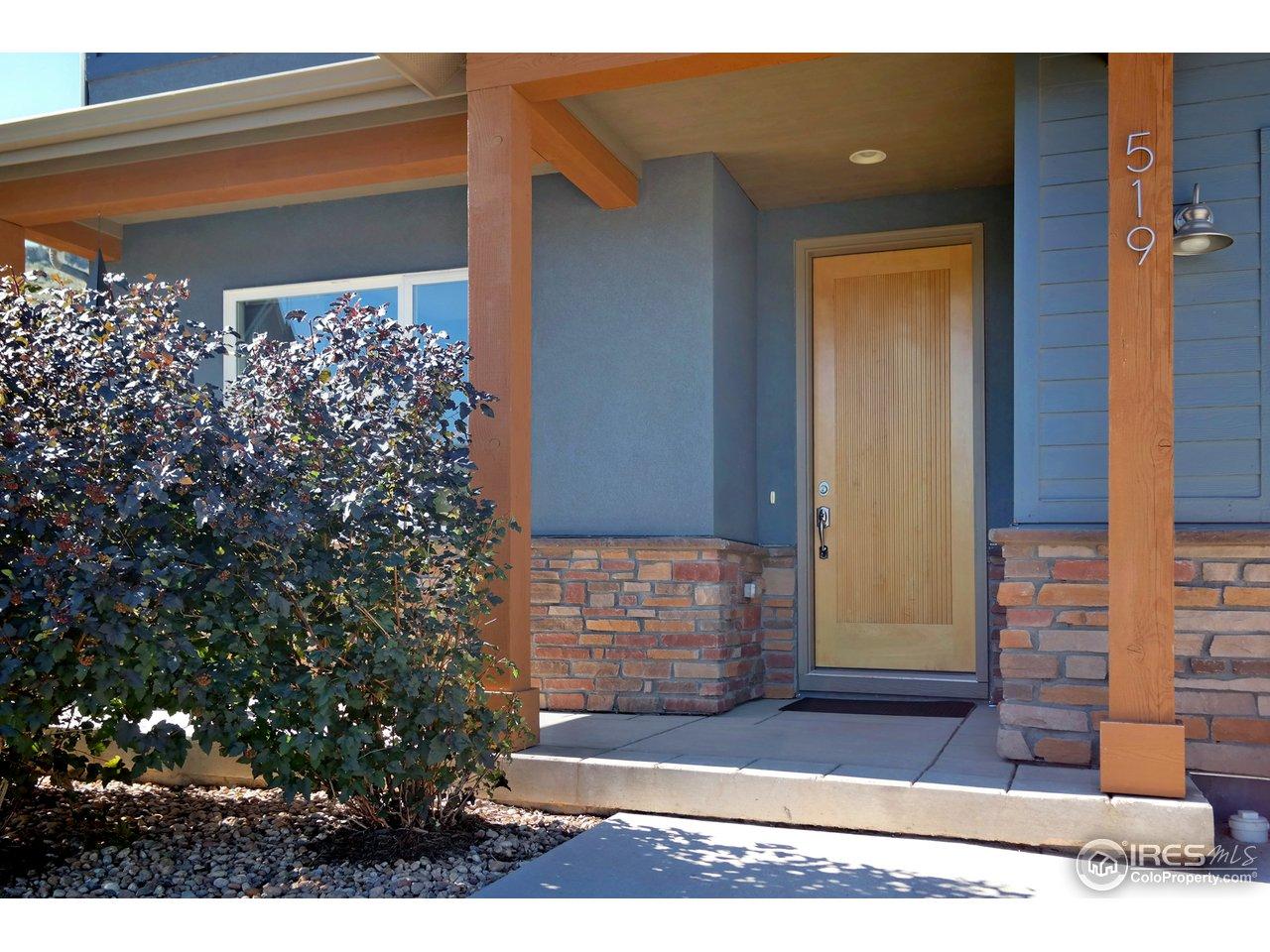Custom Solid Maple Front Door