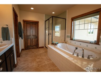 Soaking tub and large shower