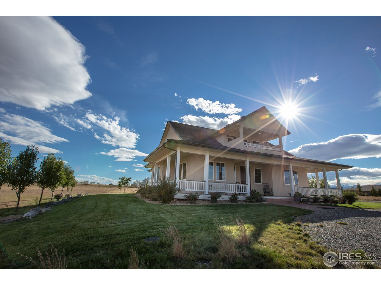 Kentucky blue grass surrounds the home