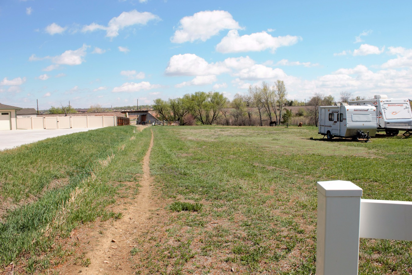 View East of Property Line