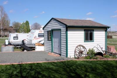 Shed 14' x 16' Garage Door