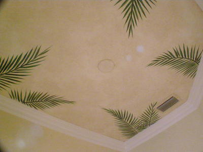 Kitchen Custom Painted Ceiling