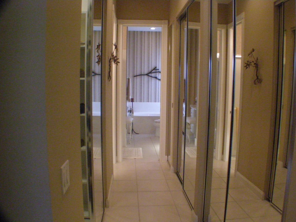 Closet Hallway to Baths