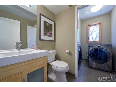1/2 Bath/Laundry on Main