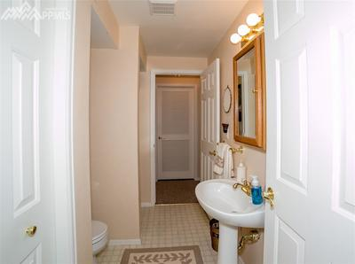 Full private bathroom in basement