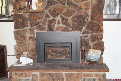 Gas stove in family room
