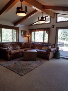 Living Room with Vaults and Beams