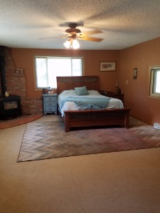 Master Bedroom with Woodstove