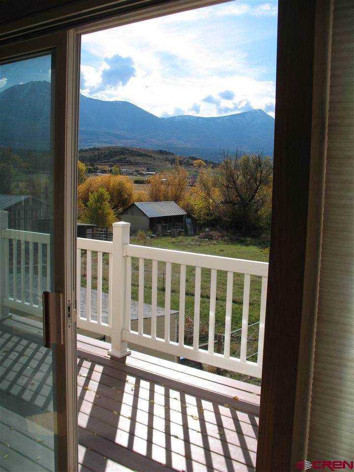 View from Master Bedroom's sliding glass door