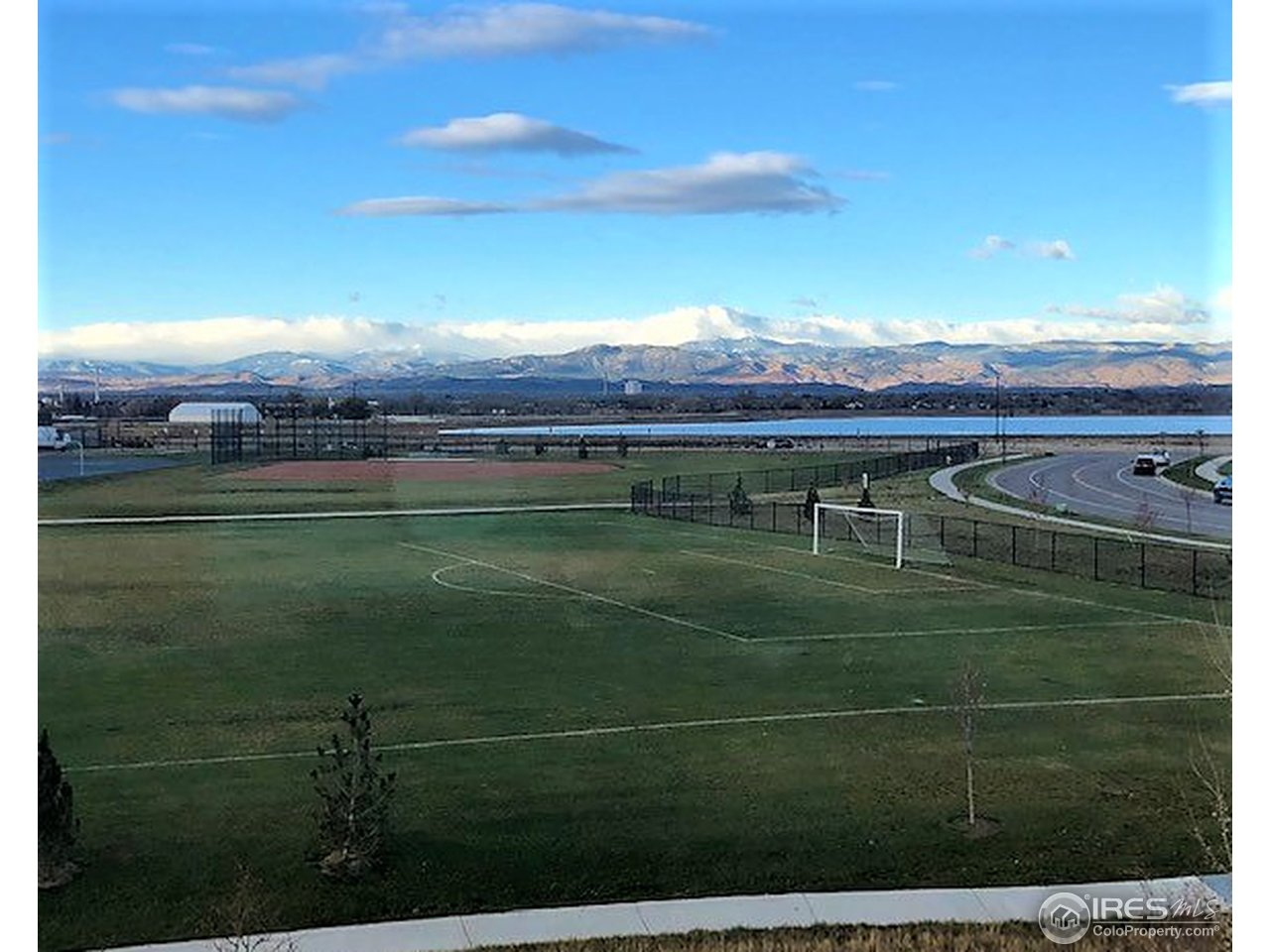 House is situated facing Longs Peak and lake views