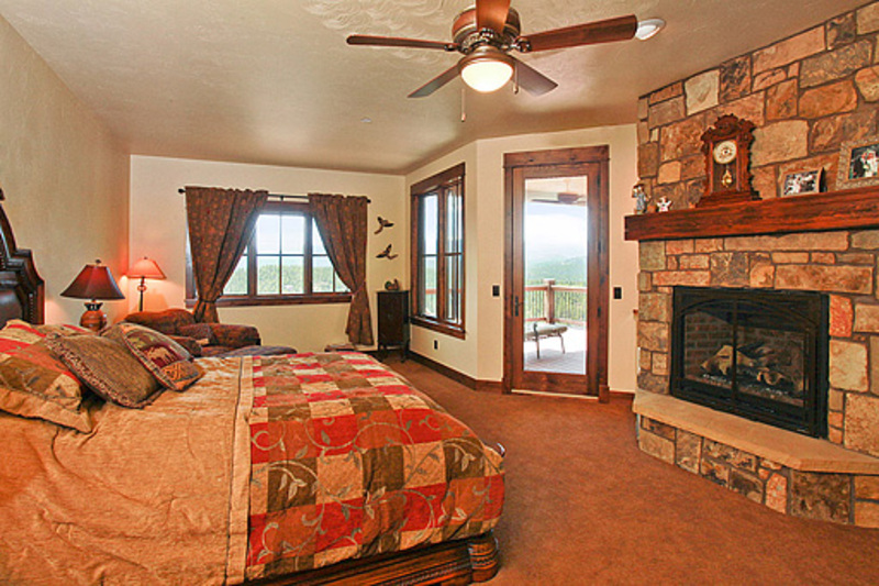 Luxurious Master Suite ... with fireplace and balcony!