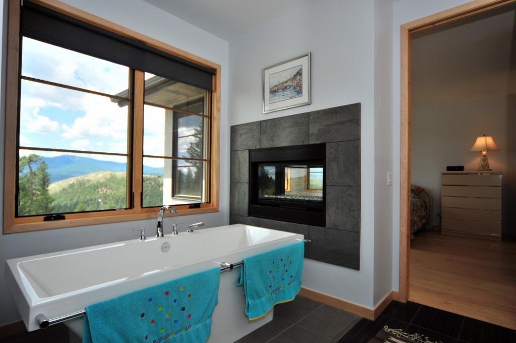 Unique modern soaking tub