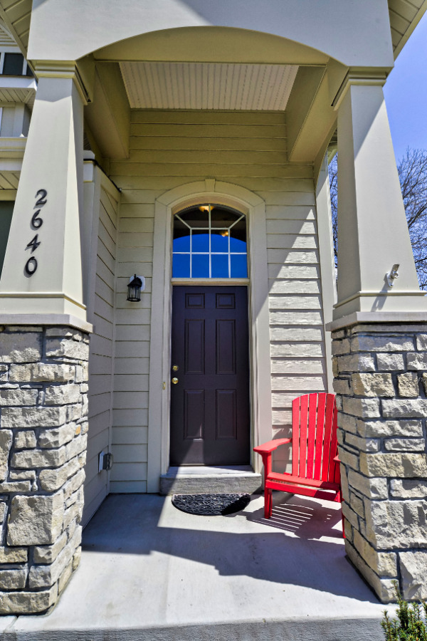 Gorgeous front entry! Hardy plank siding...no vinyl stuff here!