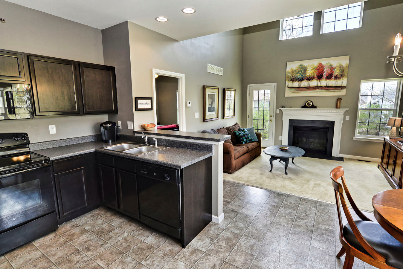 The home has a very open floor plan! Finish last minute dinner tasks while still