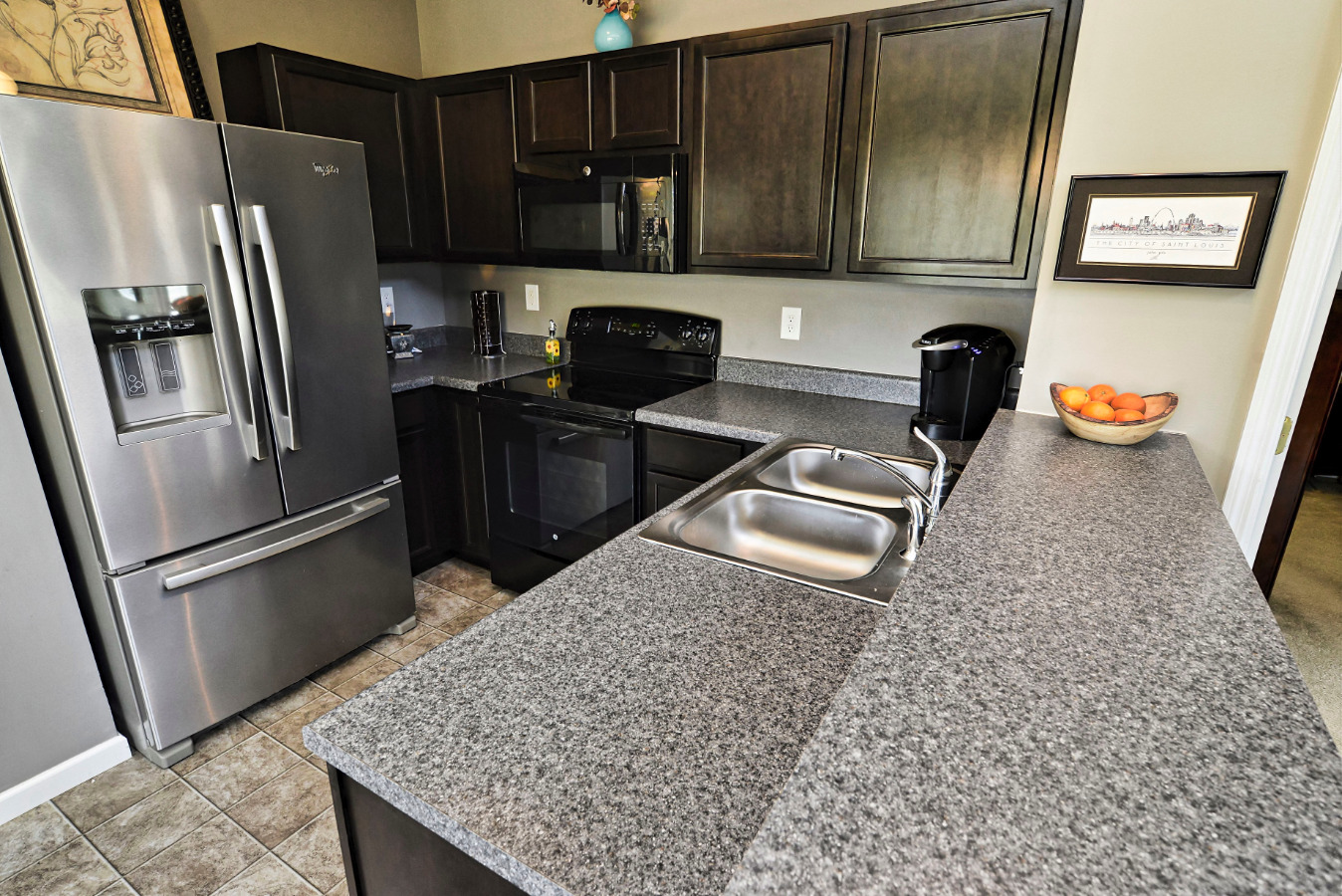 The kitchen is well thought out and efficient! No wasted space here!