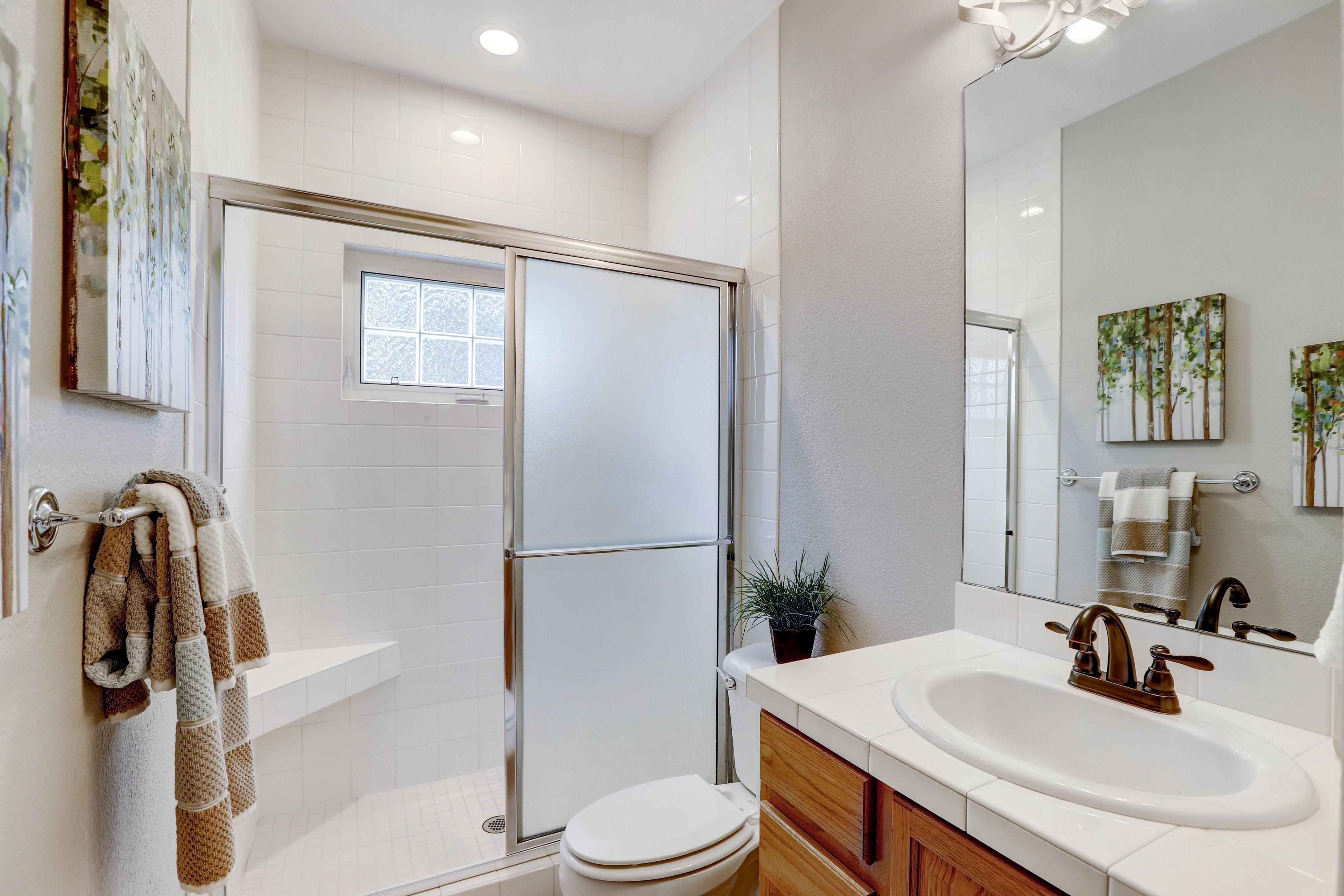 Bathroom #2 with Walk-in Shower