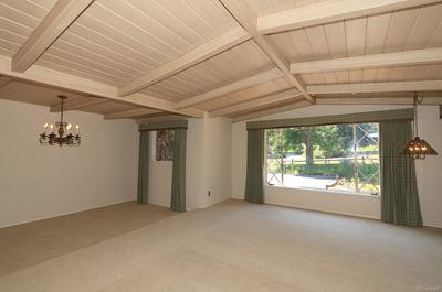 Large Front Window In Living Room Lets In Light