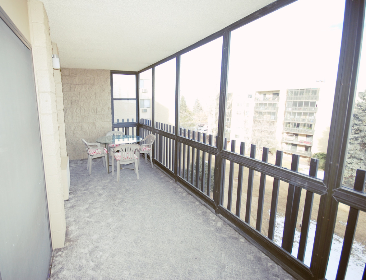Large screened in balcony