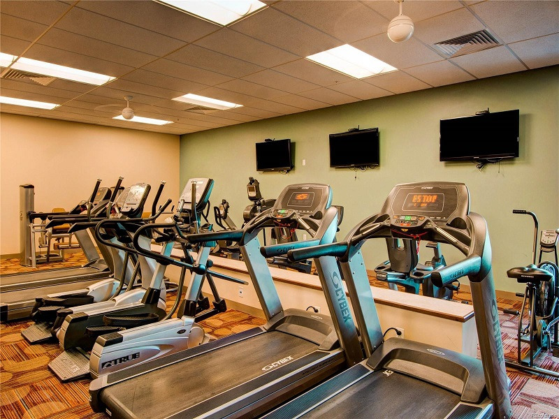 The Gym is fully equipt with TVs and all