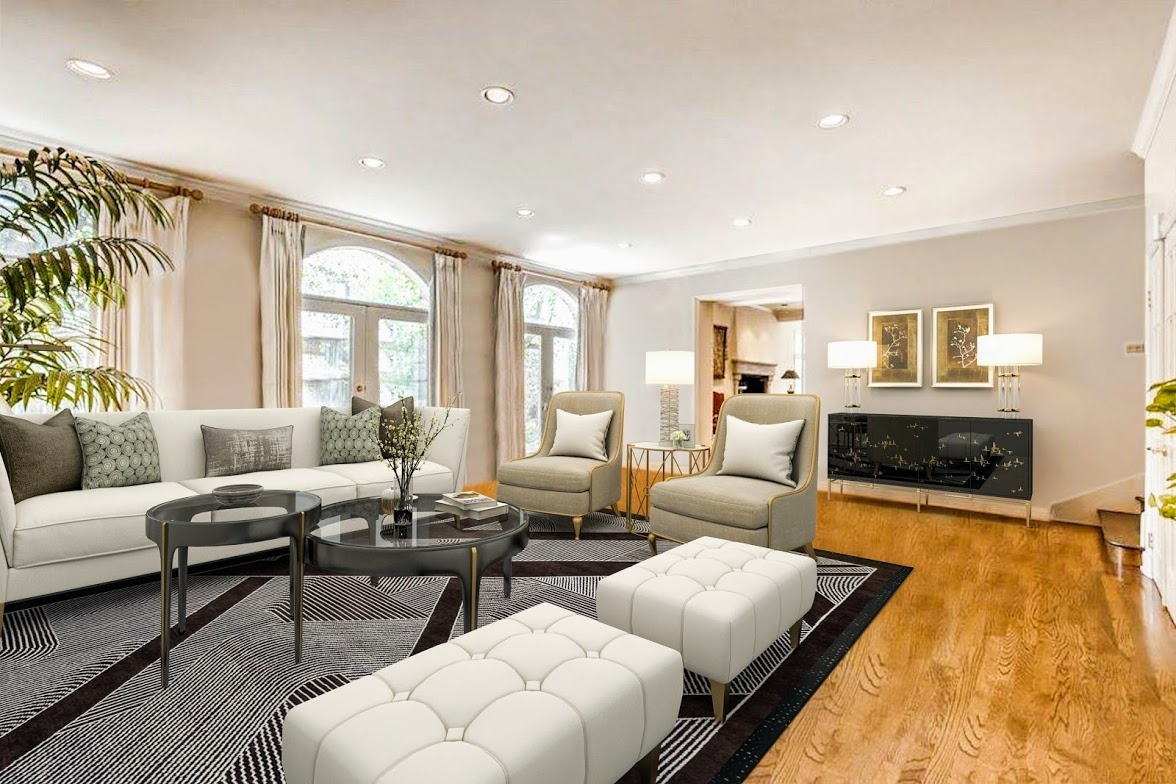 Virtually Staged - Expansive Family Room