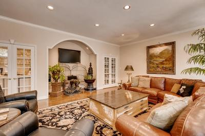 Family Room with Entertainment Center