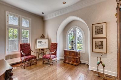 Living Room with Leaded Windows