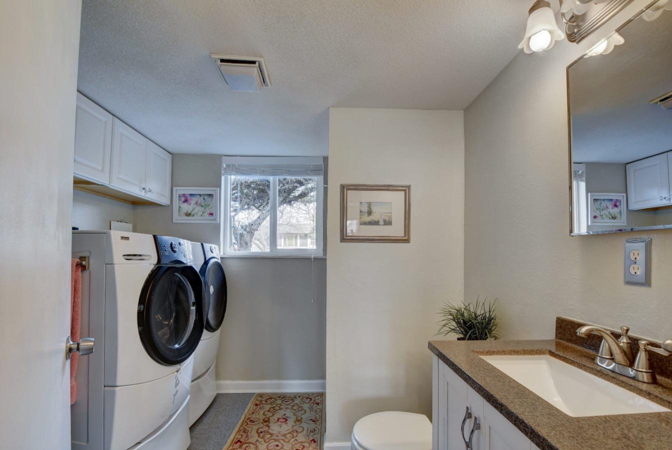 Bathroom and Laundry Area