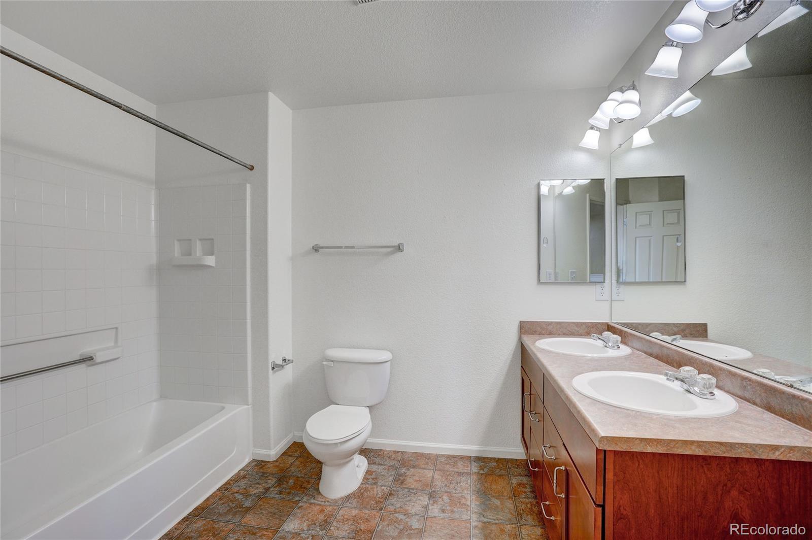 Upper Bathroom with Double Sinks