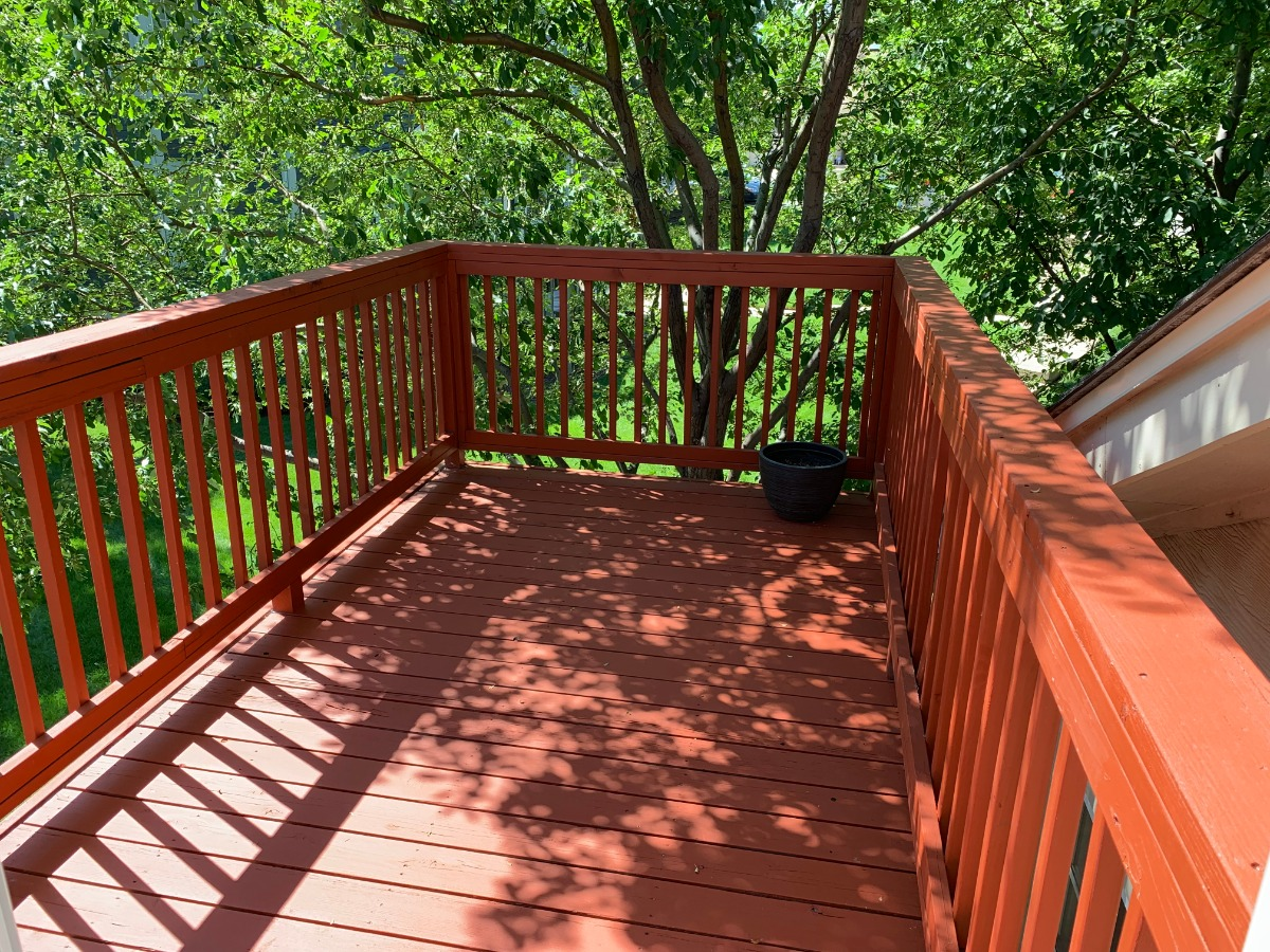 Freshly Painted Private Deck