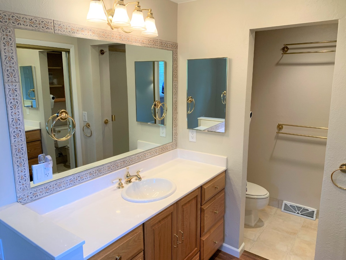 Master Vanity, Double Closet, 3/4 Master Bath