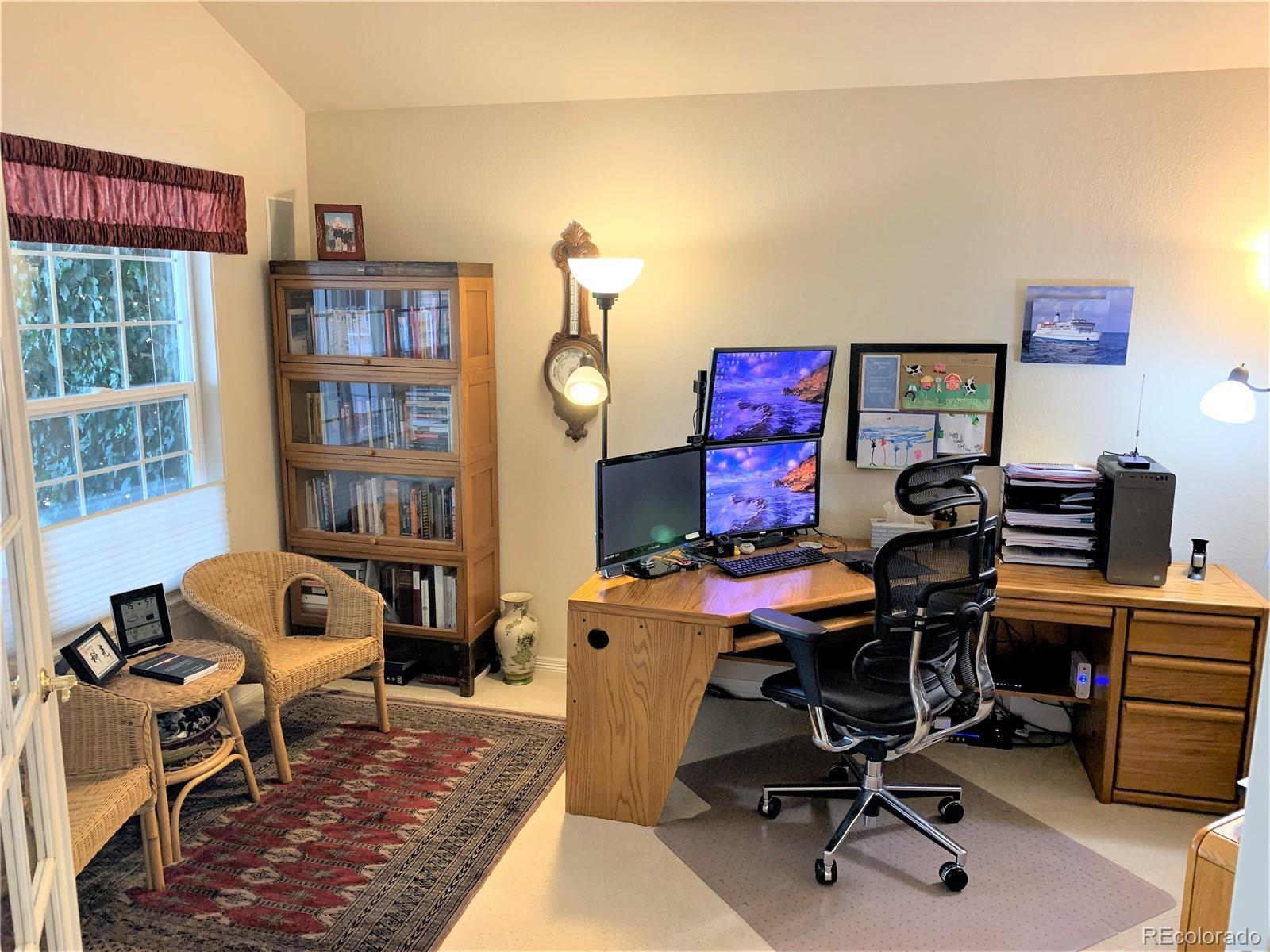 Large Office Overlooks Patio