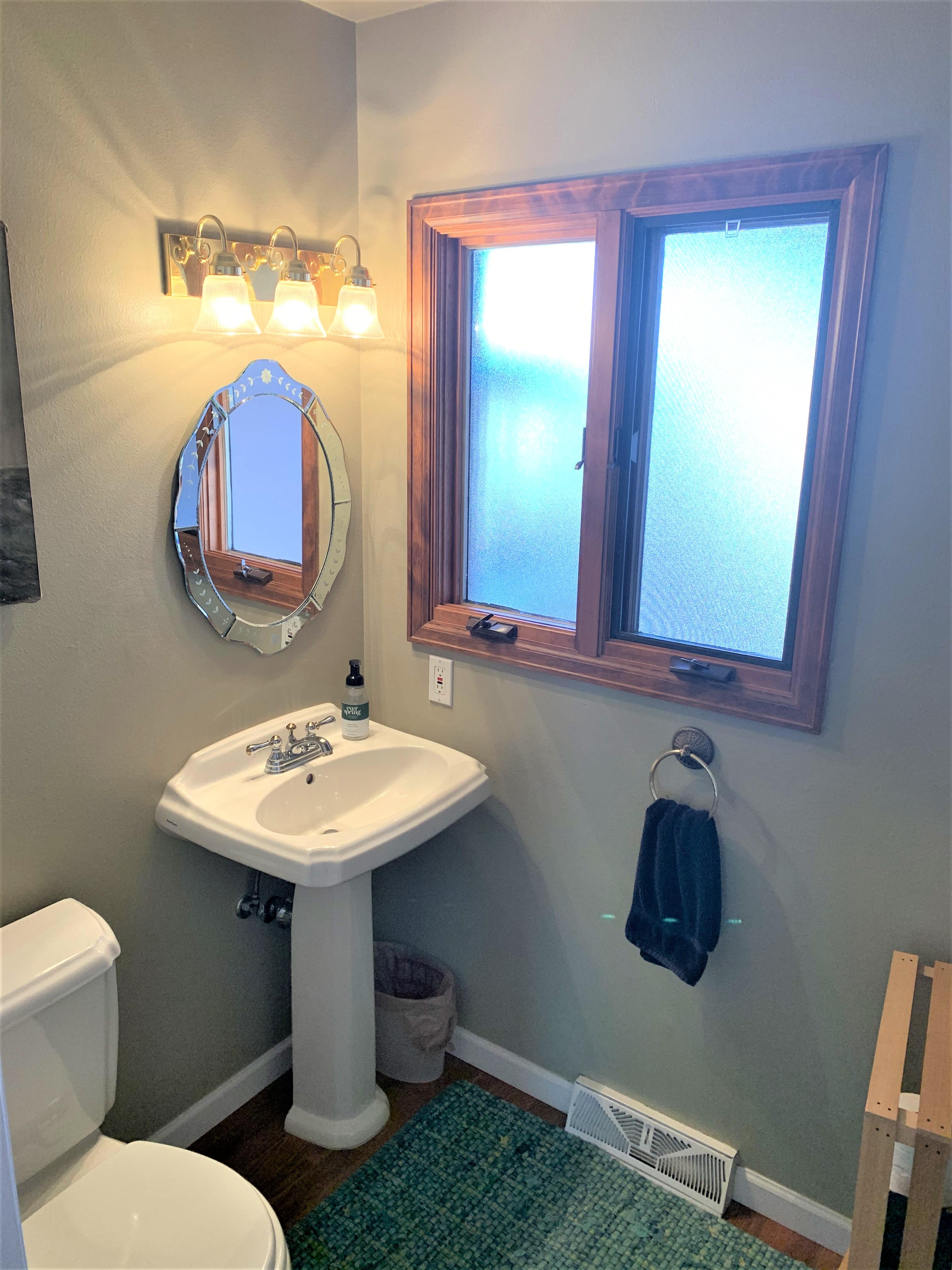 Convenient Powder Room