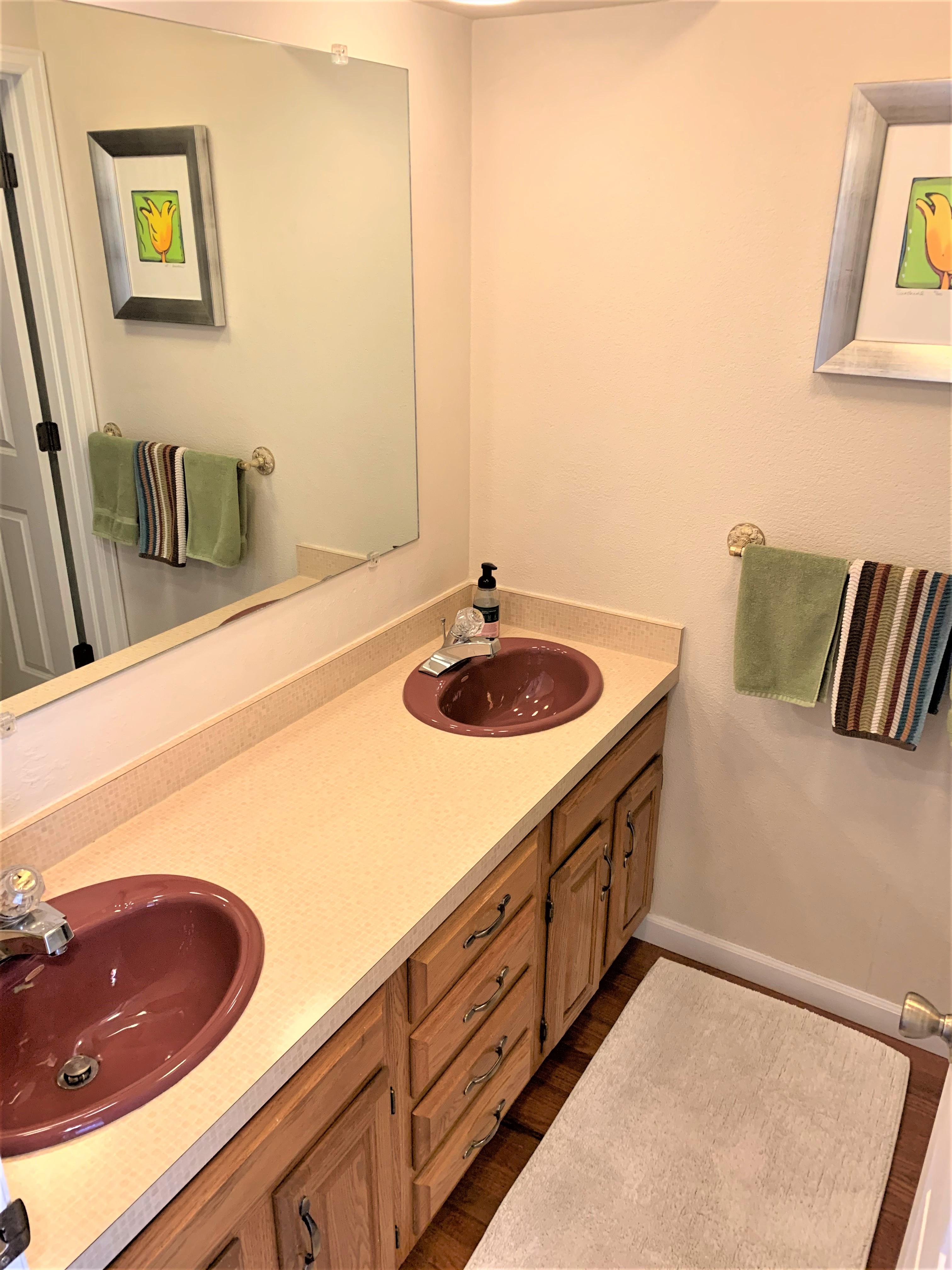 Dual Vanity in Full Hall Bath