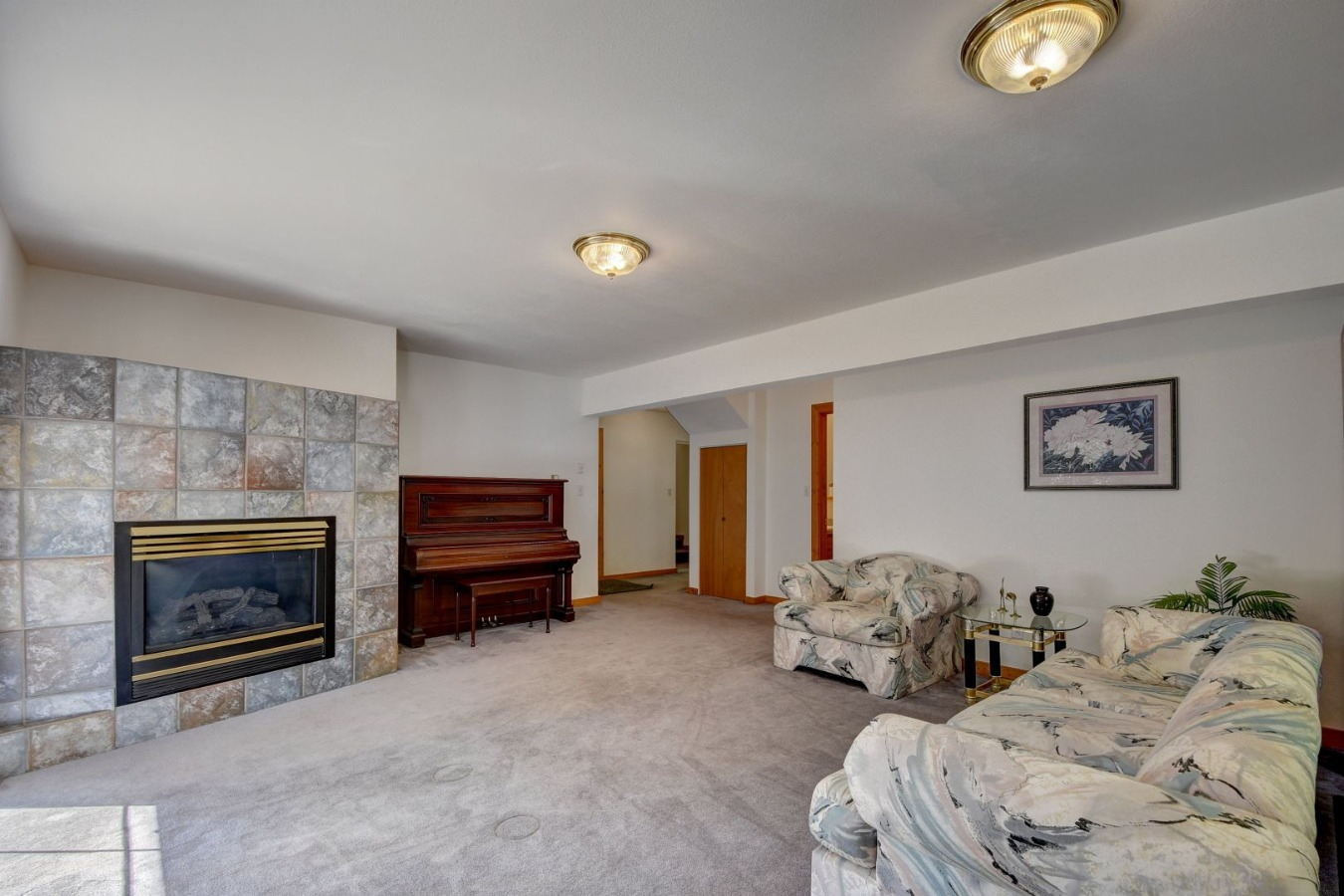 Family Room features a gas fireplace