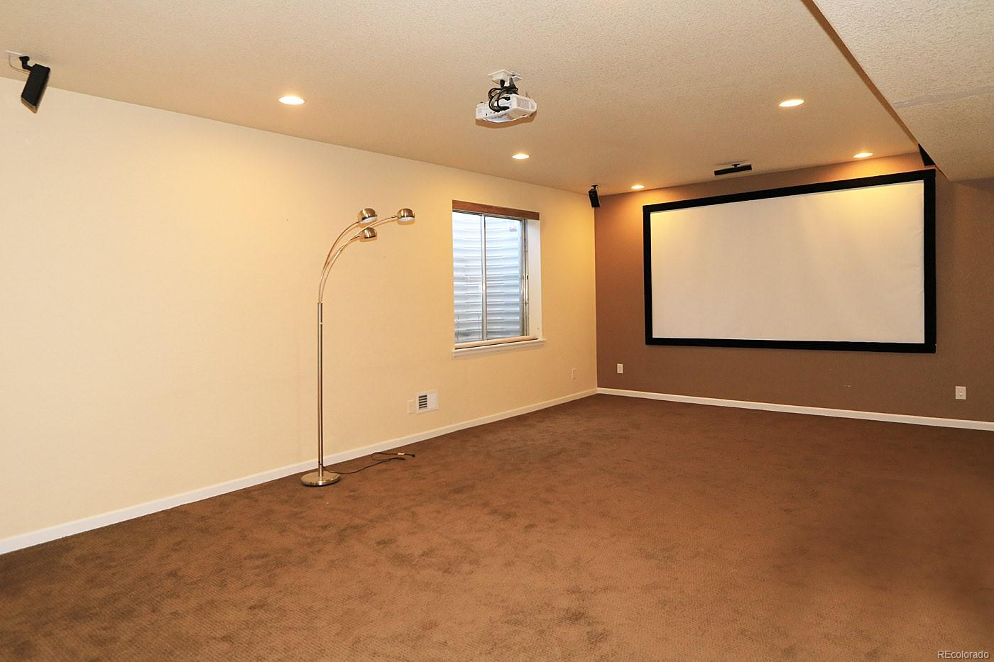 Projection/Family Room In Basement